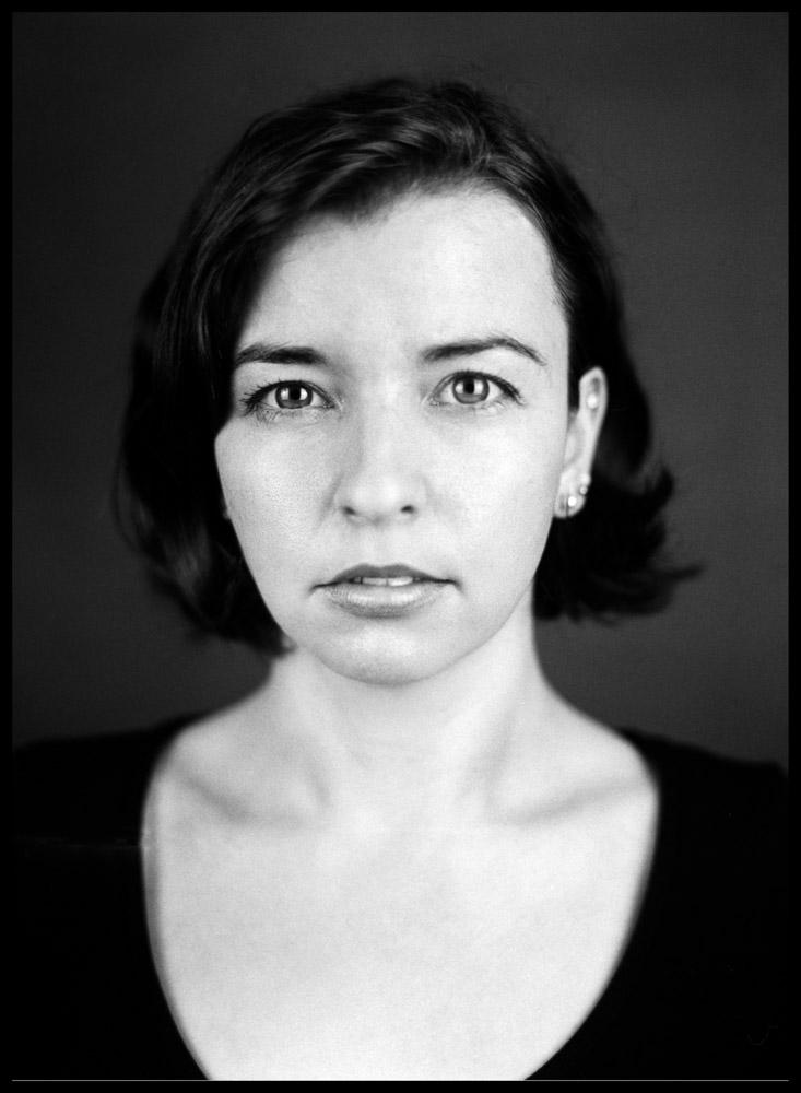 Analoge Portraitfotografie Ken Wagner Charakterportrait Close Up Mamiya 645 Schwarzweissportrait