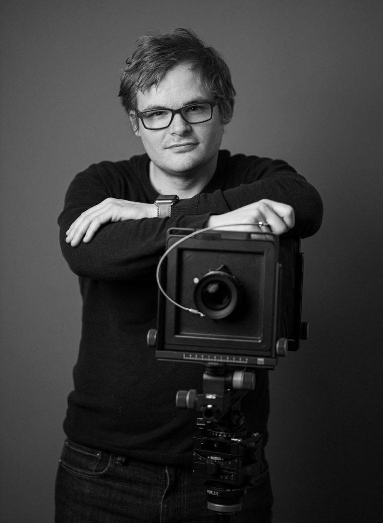 Selbstportrait mit einer Fachkamera Arca Swiss