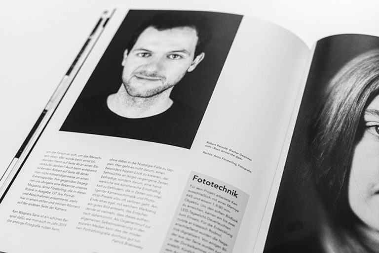 Veröffentlichung Analoges Portraitfotografie von Robert Petzold