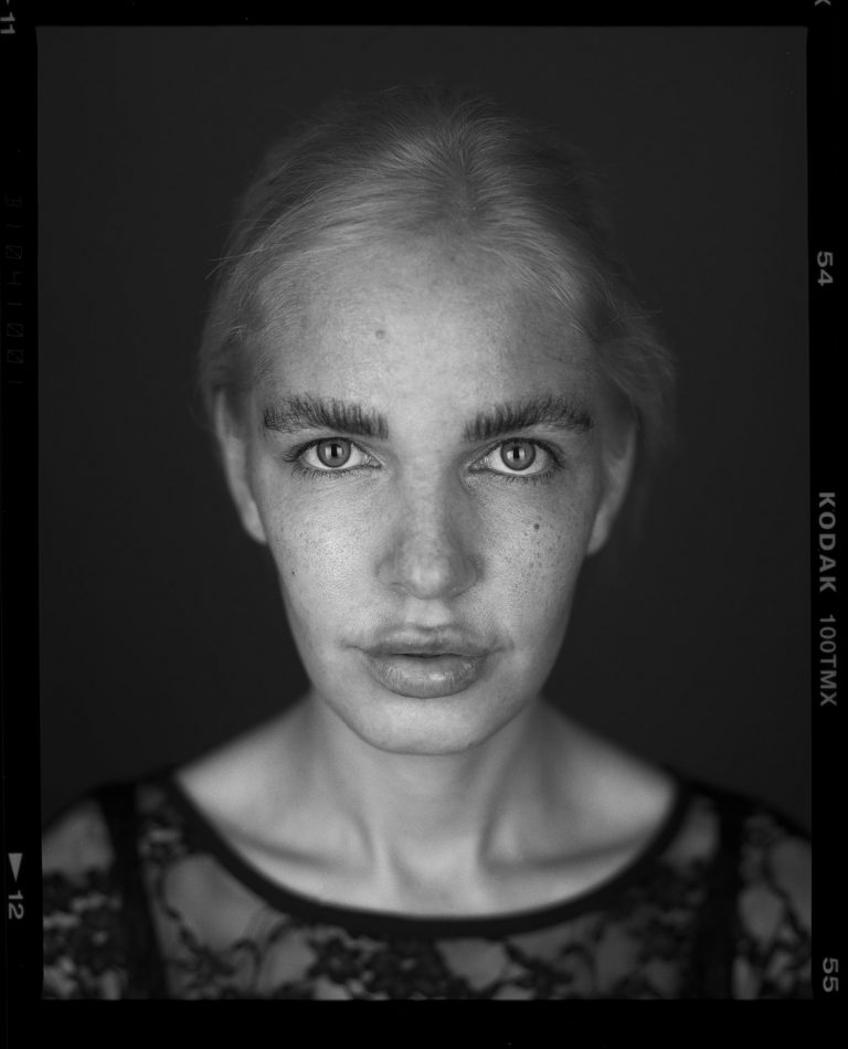 Closeup Analog Portraitfotografie Fineart