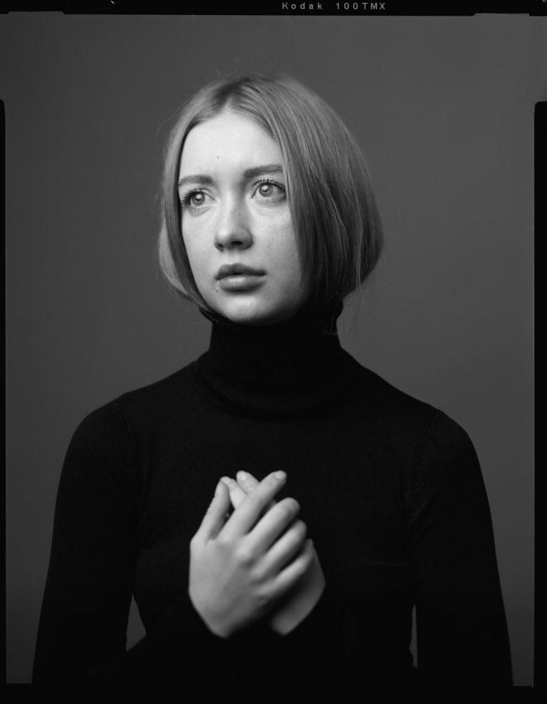 Analoggroßformatfotografie Großformatportrait Analog Film Portrait auf Film