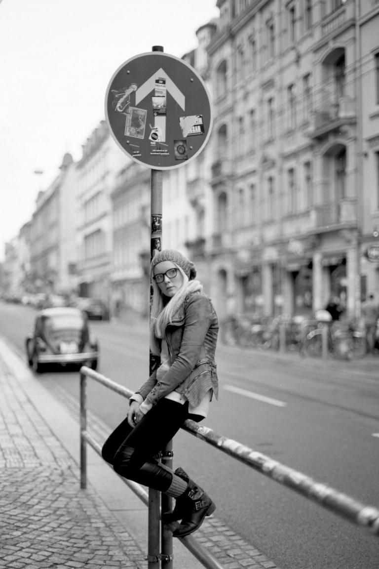Analogoutdoorportraitshooting Neustadt Dresden