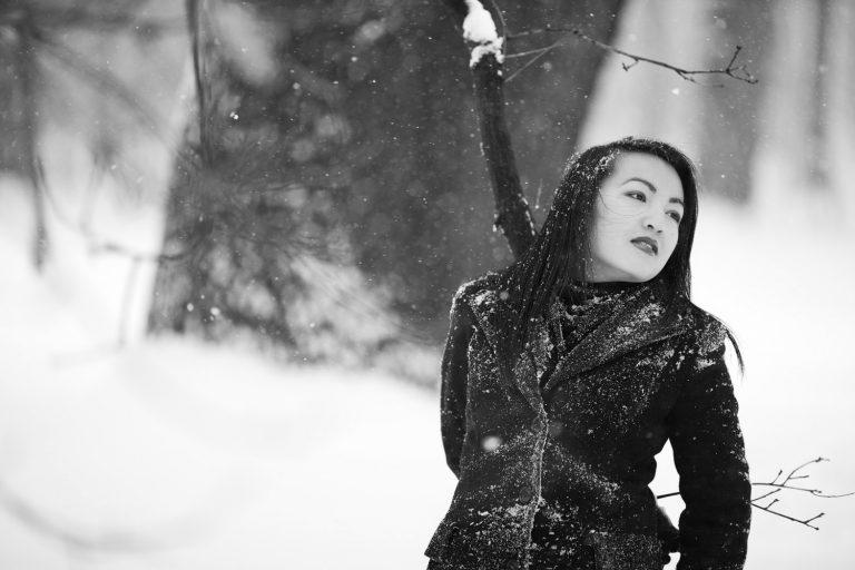 Outdoorportraitshooting im Schnee im Großen Garten - outdoor