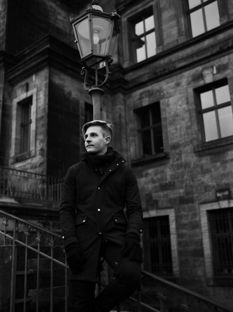 Portraitfotografie in der Altstadt Dresden, Analogfotografie, Fineartportrait, Film, Korn, Leica M6